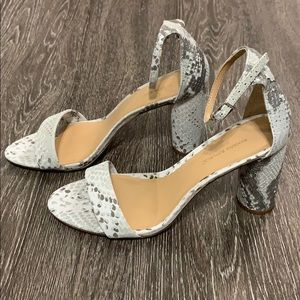 Bare Heel in Grey Snake